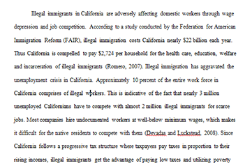 samples master essay writers are illegal immigrants costing california too much